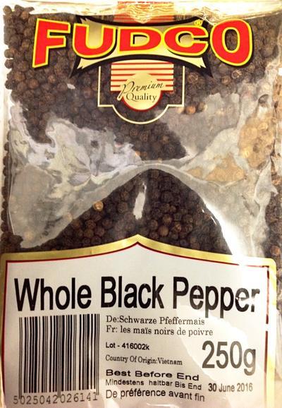 Fudco Black Pepper Whole 250g