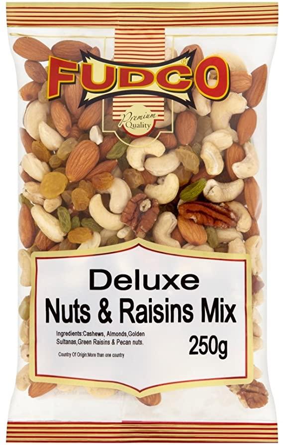 Fudco Deluxe Nuts & Raisins Mix 250g