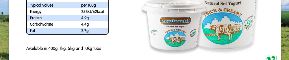 Continental Thick and Creamy Yoghurt 1kg