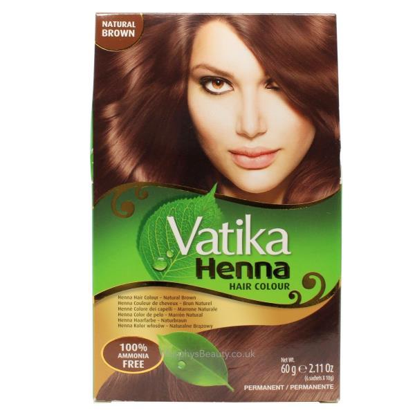 Vatika Henna Natural Brown Hair Colour 60g