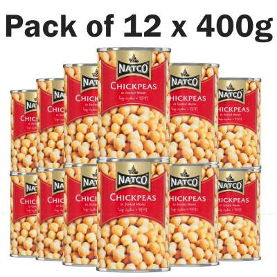 Natco Canned Chick Peas 12x400g