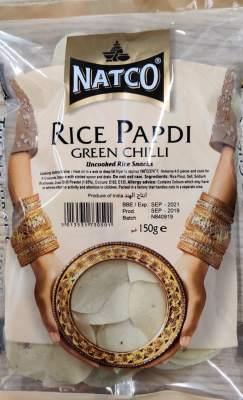 Natco Rice Papdi Green Chilli 150g