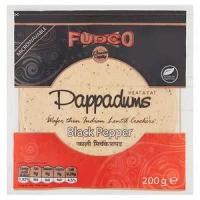 Fudco Black Pepper Papad 200g