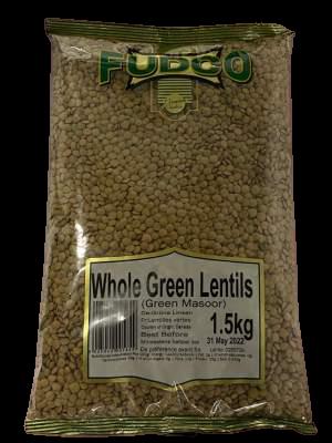 Fudco Whole Green Lentils 1.5kg