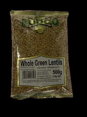Fudco Whole Green Lentils 500g