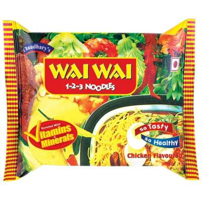 Wai Wai Chicken Flavour Instant Noodles 75g Pack of 5