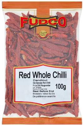 Fudco Whole Red Long Chillies 100g