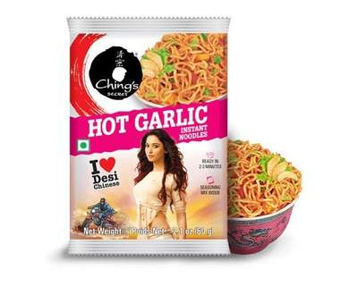 Ching's Hot Garlic Noodles 60g Pack of 5