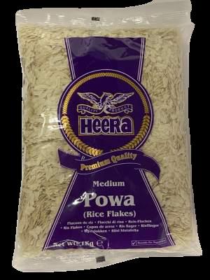 Heera Powa Medium Rice Flakes 1kg (Buy 2 Get 1 FREE)