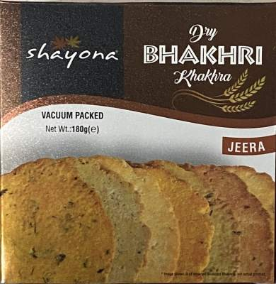 Shayona Jeera Bhakhri 180g