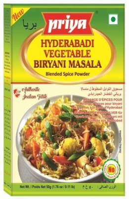 Priya Hydrabadi Vegetable Biryani Masala 50g