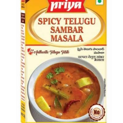 Priya Spicy Telugu Sambar 50g