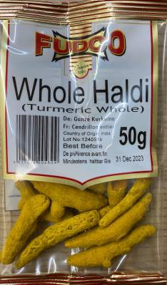 Fudco Whole Haldi (Whole Turmeric) 50g