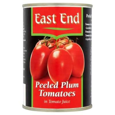East End Peeled Plum Tomatoes 400g